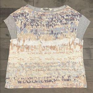 Michael Stars Rayon Flowy Print Tee - One Size